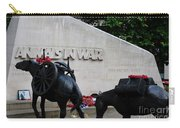 Public Memorial Honoring Military Animals In War London England Carry-all Pouch