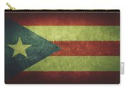 Puerto Rico Distressed Flag Dehner Carry-all Pouch