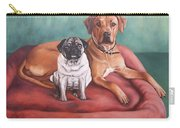 Pug And Rhodesian Ridgeback Carry-all Pouch