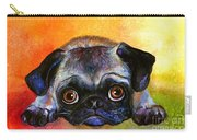 Pug Dog Portrait Painting Carry-all Pouch