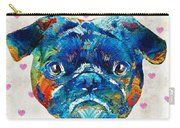 Pug Love Dog Art By Sharon Cummings Carry-all Pouch