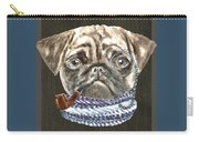 Pug Monacle Scarf Pipe Dogs In Clothes Carry-all Pouch
