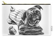Pug Ruth  Carry-all Pouch by Peter Piatt