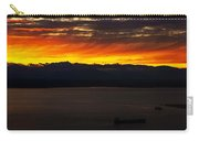 Puget Sound Olympic Mountains Sunset Carry-all Pouch