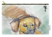 Puggle With Red Ball Carry-all Pouch