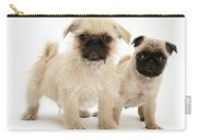 Pugzu And Pug Puppies Carry-all Pouch
