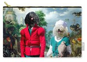 Puli Art Canvas Print - Birds And Falconers Paradise Carry-all Pouch