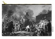 Pulling Down The Statue Of George IIi Carry-all Pouch by War Is Hell Store