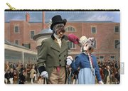 Pumi Art Canvas Print - Settling Day At Tattersalls Carry-all Pouch