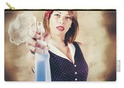 Pump Action Pin Up Woman Killing Glass Grime Carry-all Pouch