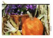Pumpkin Corn And Asters Carry-all Pouch