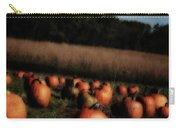 Pumpkin Field Shadows Carry-all Pouch