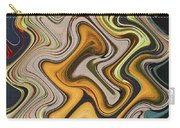 Pumpkin On Fence Abstract # 6822 Wwt Carry-all Pouch
