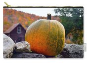 Pumpkin On Rock Wall Carry-all Pouch