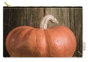 Pumpkin On Straw Bale Carry-all Pouch