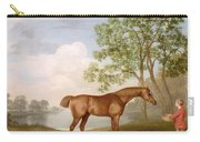 Pumpkin With A Stable-lad Carry-all Pouch by George Stubbs