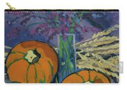Pumpkins And Wheat Carry-all Pouch by Erin Fickert-Rowland