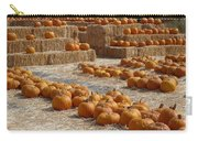 Pumpkins On Bales Carry-all Pouch