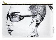 Punk Imaginative Portrait Drawing  Carry-all Pouch