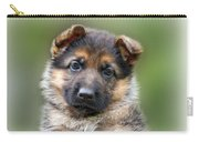 Puppy Portrait Carry-all Pouch by Sandy Keeton