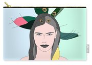 Pure Elixir- Beautiful Woman Portrait Minimalist Drawing Carry-all Pouch
