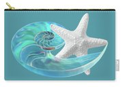 Pure Joy - Starfish With Nautilus Shell Carry-all Pouch
