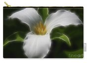 Pure White Trillium Carry-all Pouch