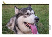 Purebred Alaskan Malamute Tongue Carry-all Pouch