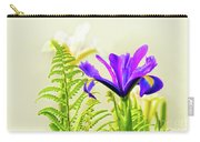 Purple And Blue Iris Carry-all Pouch