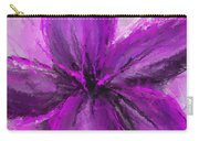 Purple And Gray Art Carry-all Pouch