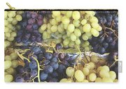 Purple And Green Grapes Carry-all Pouch