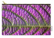 Purple And Green Leaf Carry-all Pouch