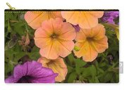 Purple And Peach Carry-all Pouch