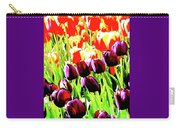 Purple And Peach Tulips 2 Carry-all Pouch