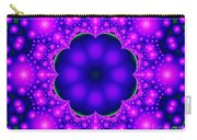Purple And Pink Glow Fractal Carry-all Pouch