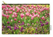 Purple And Pink Tulips In Canberra In Spring Carry-all Pouch
