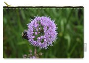 Purple And The Bee Carry-all Pouch