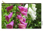 Purple And White Bell Flowers Carry-all Pouch