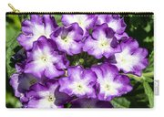 Purple And White Bouquet Carry-all Pouch