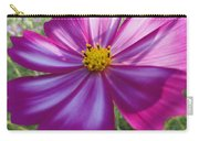 Purple And White Cosmos Carry-all Pouch