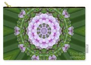 Purple And White Flowers  Carry-all Pouch