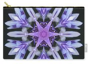 Purple And White Frosted Queen Mandala Carry-all Pouch