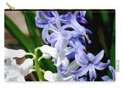 Purple And White Hyacinth Carry-all Pouch