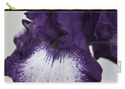 Purple And White Iris Bloom Carry-all Pouch