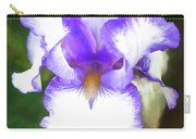 Purple And White Iris Carry-all Pouch