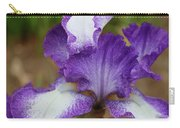 Purple And White Iris Layers Carry-all Pouch
