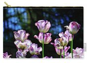 Purple And White Tulips - Photopainting Carry-all Pouch