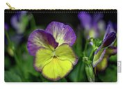Purple And Yellow Bokeh Carry-all Pouch