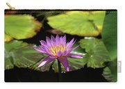 Purple And Yellow Water Lily Carry-all Pouch
