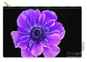 Purple Anemone Flower Carry-all Pouch